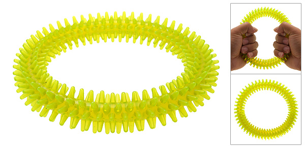 Stress Relief Yellow Massage Hand Grip Ring