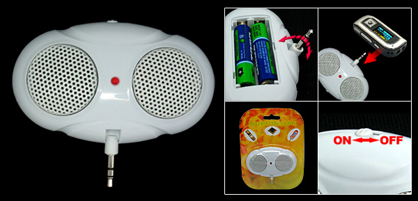 White Bee Eyes Pocket MP3 Player Speakers