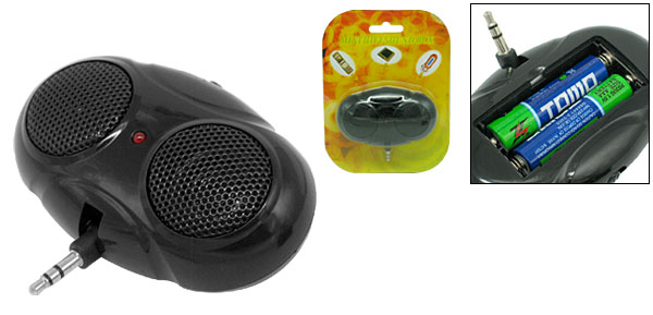 Black Mini Pocket Bee-Eyes Stereo Speaker for iPod MP3 MP4