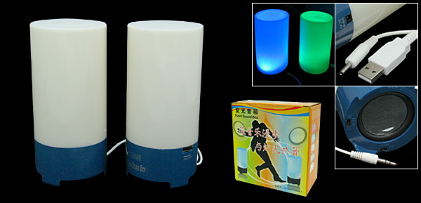 Glowing USB Powered Speakers