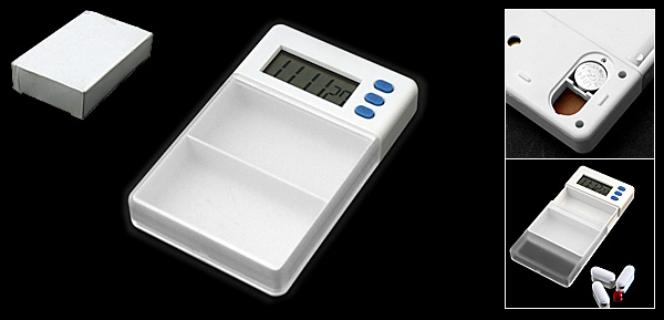 Pill Medicine Box Case with Timer Countup Alarm Clock
