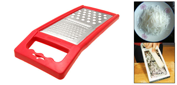 Fruit Potatoes Vegetable Peeler Cheese Grater  Kitchen Tool Red