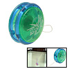 Plastic Safety Children's Yo-Yo Toy Green Blue with Flash Light
