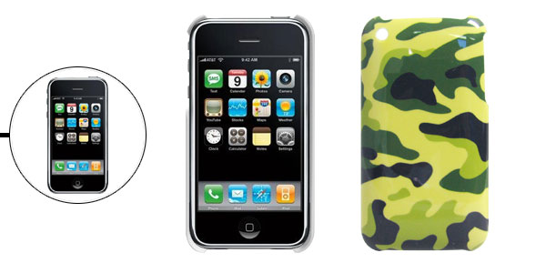 Army Camouflage Hard Plastic Case for Apple iPhone 3G