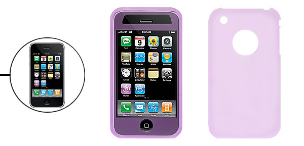 Smooth Purple Silicone Skin Case Cover for Apple iPhone 3G