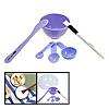 Beauty Purple Accessory 6 in 1 Measuring Spoon Mask Stick Bowl Brush