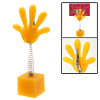 Small Yellow Hand Shape Memo Clip with Flexible Spring