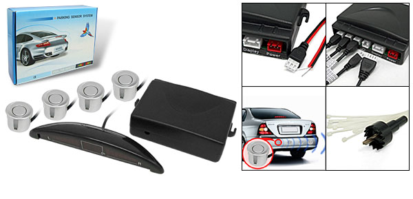 Car Reverse Parking Sensor System with LED Display 4 Sensors