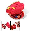 Fashion Long Gear Strip Control Children's Peg-Top Toy Red