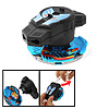 Gear Strip Control Swirl Fighter Children's Peg-Top Toy Blue Blac...