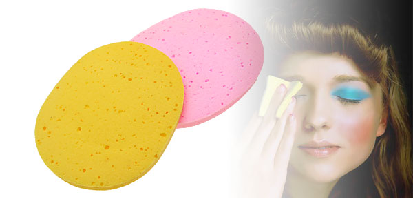 Pair Fashion Lady's Cleaning Face Pad Yellow & Pink