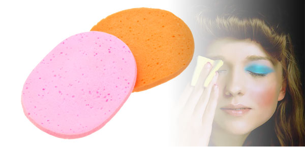 Pair Orange and Pink Fashion Lady's Cleaning Face Pad