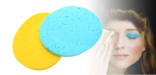 Pair Blue Green and Yellow Special Girl's Cleaning Face Pad