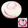 Deep Pink White Girls' Round Cleaning Washing Face Pad