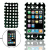 Black Hard Plastic Case with White Dot Design for Apple iPhone 3G