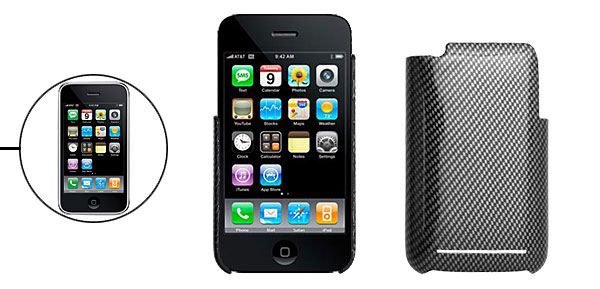 Black and Silver Checked Hard Plastic Back Case for Apple iPhone 3G