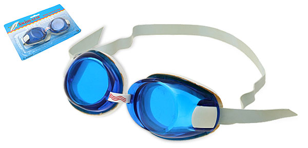 Unisex Lady or Man Blue Swim Swimming Pool Adult Goggles