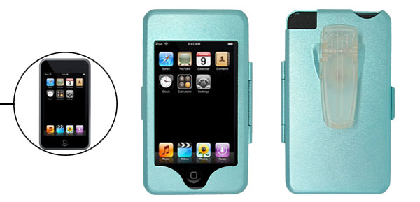 New Blue Aluminium Hard Enclosure Case with Clip for iPod Touch 1st Generation