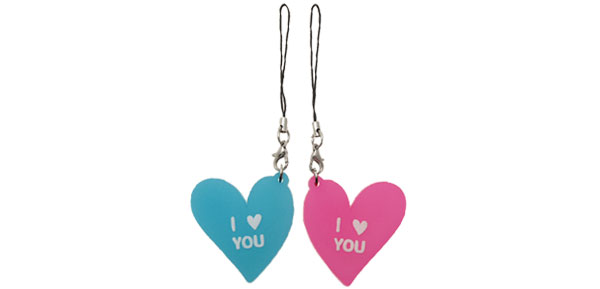 Fashion I LOVE YOU Heart Pendant Charm Mobile Cell Phone Strap