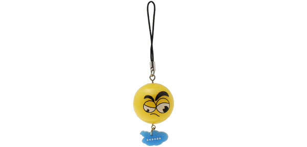 Cartoon Face Small Orange Ball Charm Mobile Cell Phone Strap