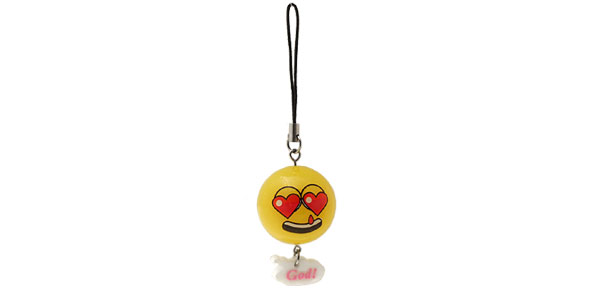Small Orange Ball Pendant Charm Mobile Cell Phone Strap
