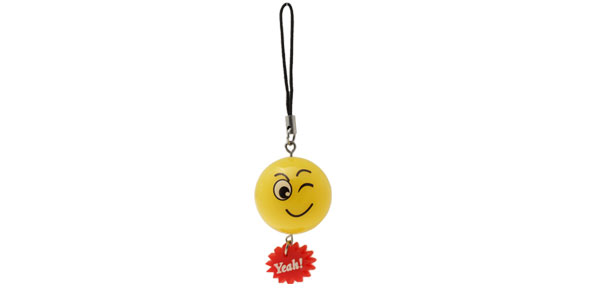 Charm Small Red Gear Pendant Orange Ball Mobile Cell Phone Strap