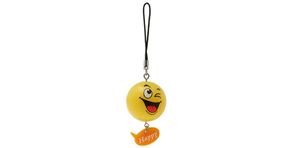 Cartoon Smiley Face Small Orange Ball Mobile Cell Phone Strap