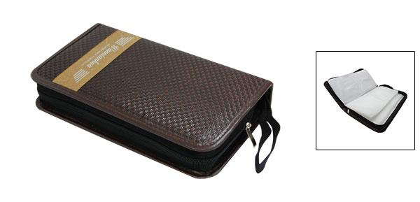 Long Rectangle Leather CD Protective Storage Case Bag Holder