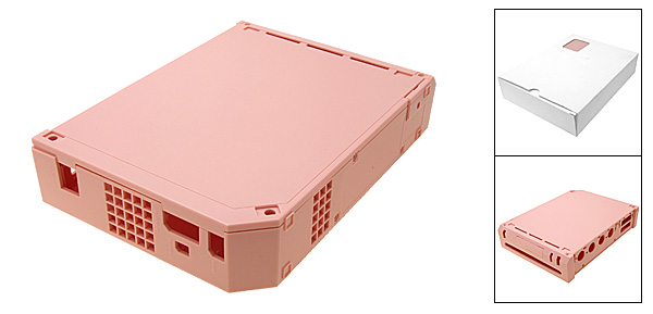 Pink Hard Plastic Case Cover for Nintendo Wii Console