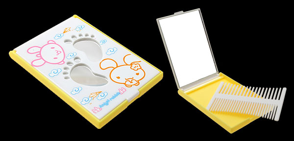 Fashion Rectangle Mirror with Small Comb