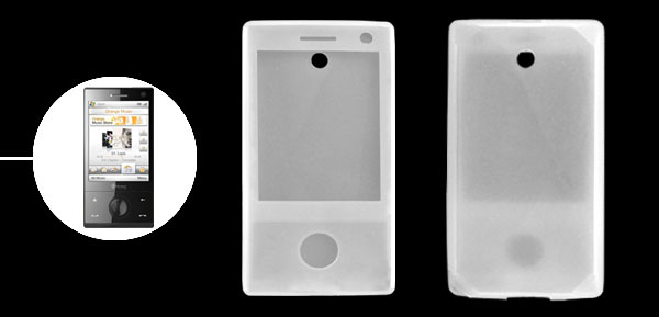 White Silicone Case for HTC Touch Diamond Cell Phones
