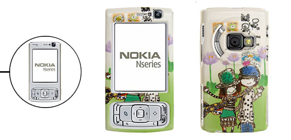 Lovers Pattern Phone Case Cover Protector for Nokia N95