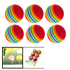 6 Rainbow Style Foam Golf Practice Training Balls