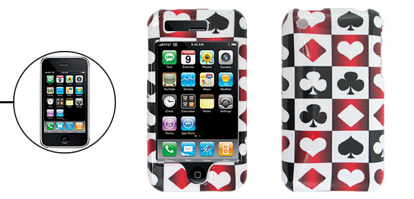 Card Themed Hard Case for Apple iPhone 3G