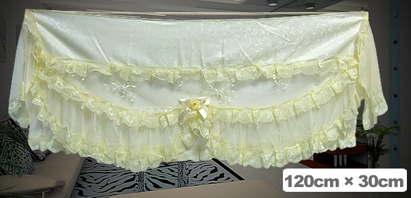 Fashion Cream-Colored Indoor Lace Air-Conditioner Cover with Elastic