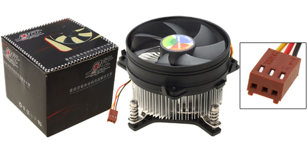 Portable Round Cooler Heatsink CPU Cooling Fan Black and White