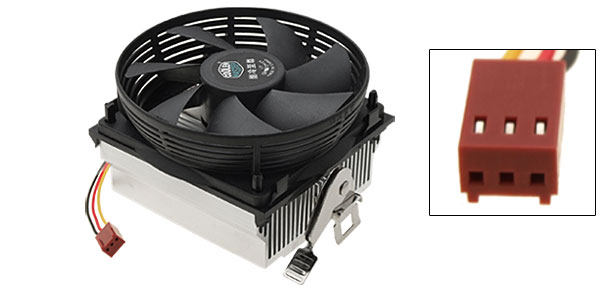 Portable Round Cooler Exhust Blower Heatsink CPU Cooling Fan Black and White