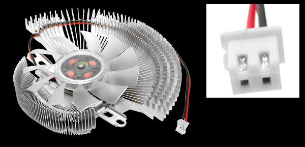 PC Computer Aluminum VGA Video Card Heatsinks Cooler Cooling Fan
