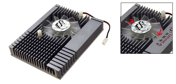 Rectangle Aluminum VGA Video Card Heatsinks Cooler Cooling Fan