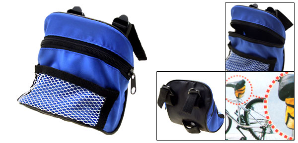 Fashion Nylon zipper Blue Bicycle Bag for iPhone 3G