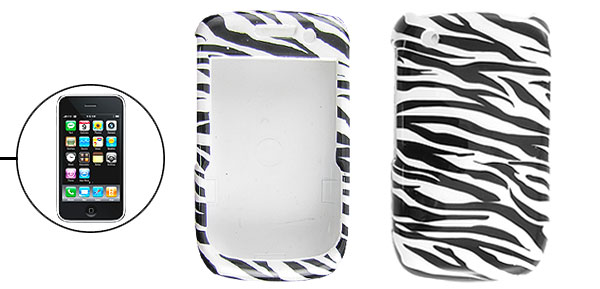 Protective Zebra Design Hard Plastic Case for Blackberry 8520
