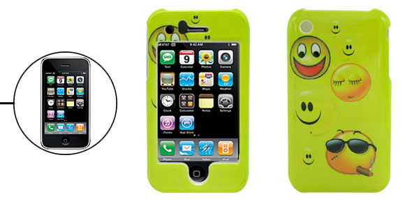 Cartoon Face Hard Plastic Protective Case Cover for Apple iPhone 3G