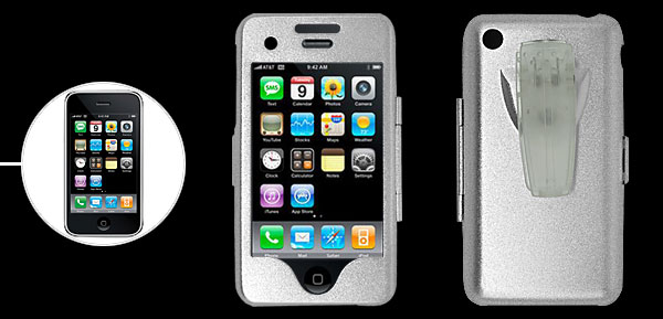 Clip Silvery Hard Aluminum Case Cover for Apple iPhone 3G 2nd Gen