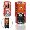 Red Cartoon Cat Hard Plastic Mobile Phone Case Cover Protector for Sony Ericsson W810