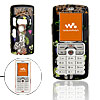 Cute Girl Pattern Black Plastic Mobile Cell Phone Hard Case Cover for Sony Ericsson W800