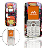 Multicolor Cartoon Girl Pattern Plastic Mobile Cell Phone Hard Case Cover for Sony Ericsson W800