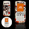 White Hard Plastic Cartoon Lovers Mobile Cell Phone Case Cover for Sony Ericsson W800