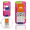 Magenta Hard Plastic Case Protector for Sony Ericsson W800