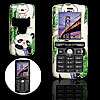Panda Pattern Plastic Hard Mobile Case Cover Protector for Sony Ericsson K750 Green and White