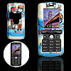 Lovers Pattern Hard Plastic Mobile Phone Case Cover Protector for Sony Ericsson K750 White and Blue
